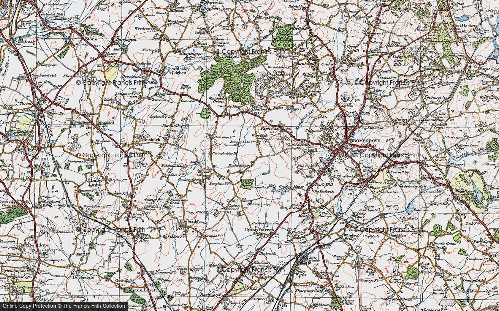 Old Map of Timberhonger, 1919 in 1919