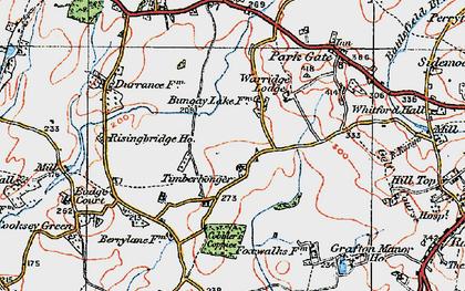 Old map of Timberhonger in 1919
