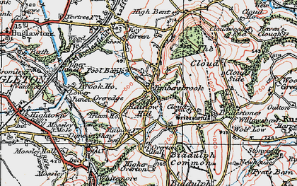 Old map of Timbersbrook in 1923