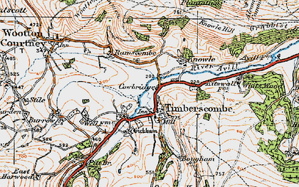Old map of Timberscombe in 1919