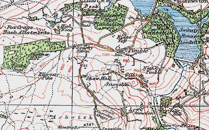 Old map of Timble Gill Beck in 1925