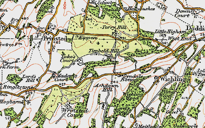Old map of Wrinsted Court in 1921
