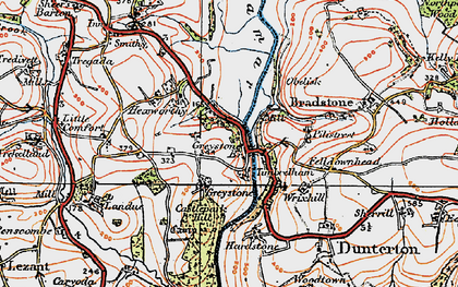 Old map of Timbrelham in 1919