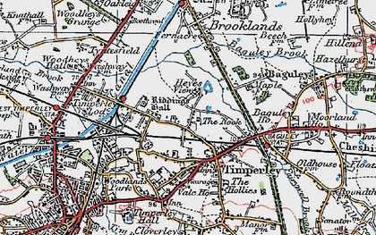Old map of Timperley in 1923