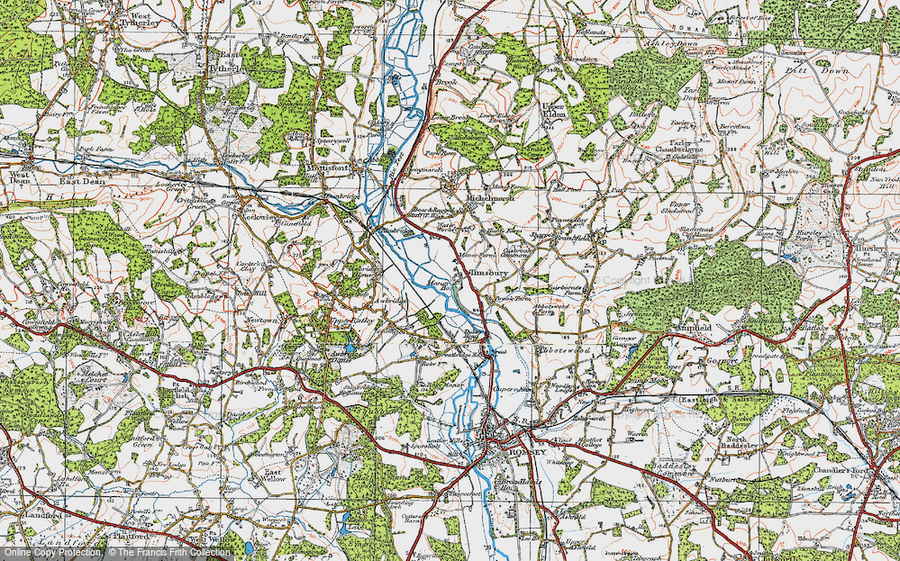Old Map of Timsbury, 1919 in 1919