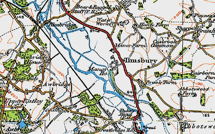 Old map of Timsbury Manor in 1919