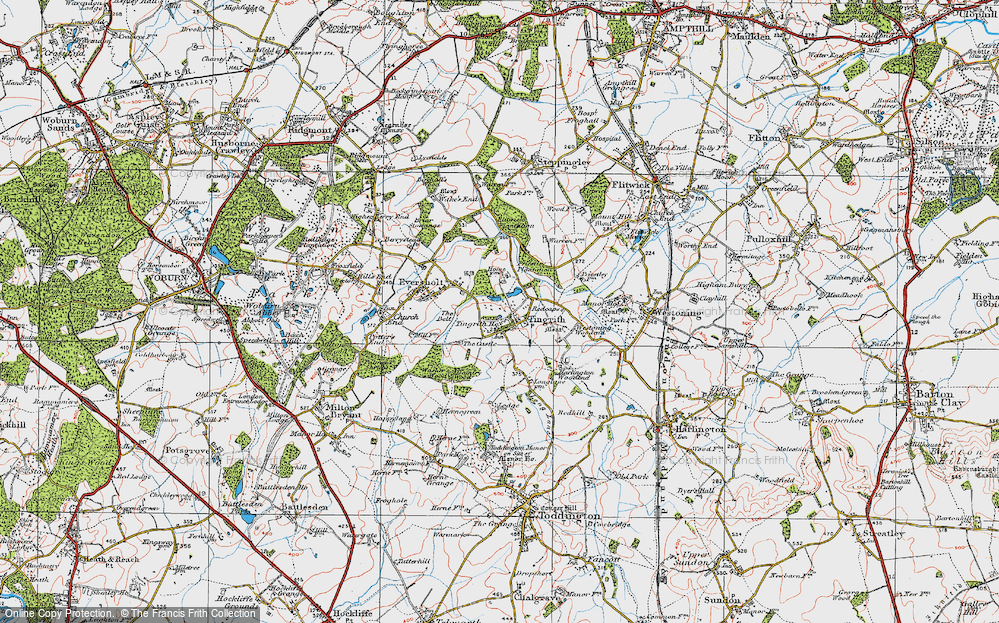 Old Map of Tingrith, 1919 in 1919