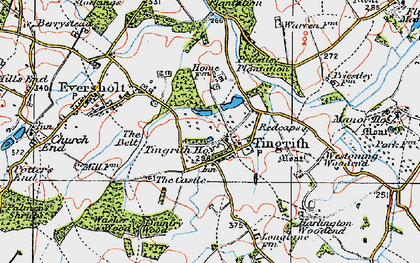 Old map of Tingrith in 1919