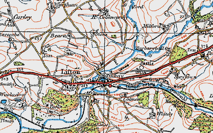 Old map of Tinhay in 1919