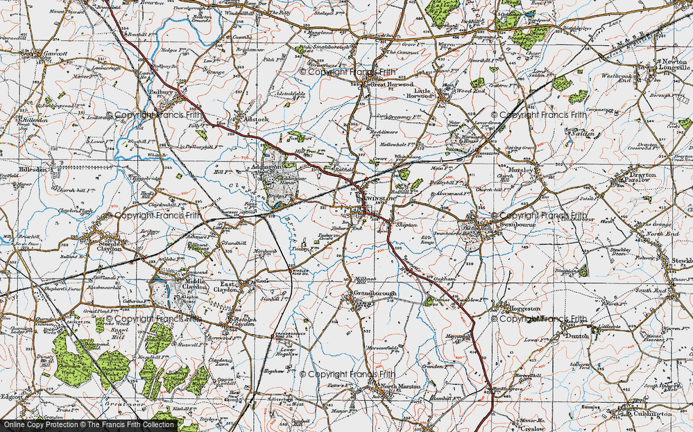 Old Map of Tinkers End, 1919 in 1919