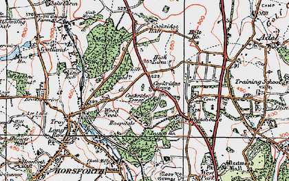 Old map of Tinshill in 1925