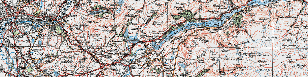 Old map of Windgate Edge in 1924