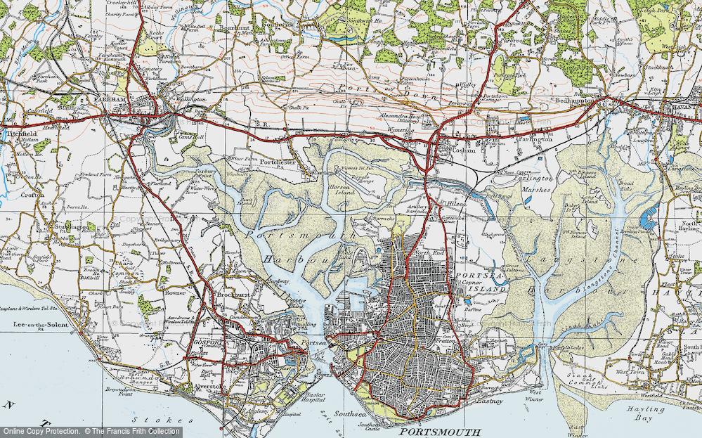 Old Map of Tipner, 1919 in 1919