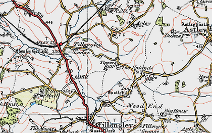 Old map of Tipper's Hill in 1921