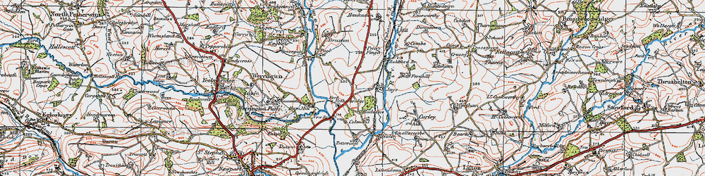 Old map of Tipple Cross in 1919