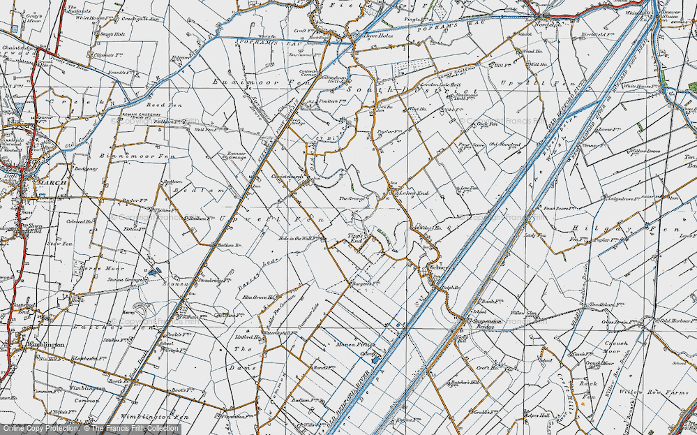 Old Map of Tipps End, 1922 in 1922
