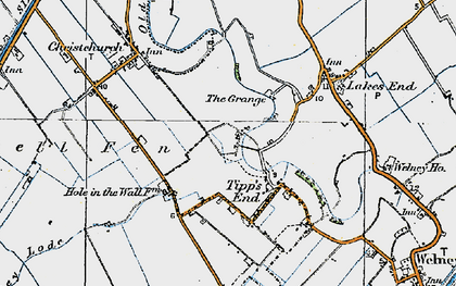 Old map of Tipps End in 1922