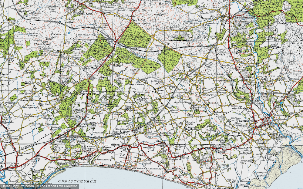 Old Map of Tiptoe, 1919 in 1919