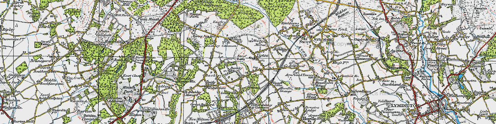 Old map of Tiptoe in 1919