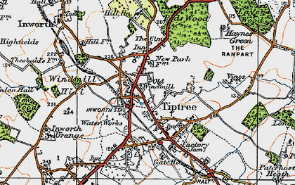 Old map of Tiptree in 1921