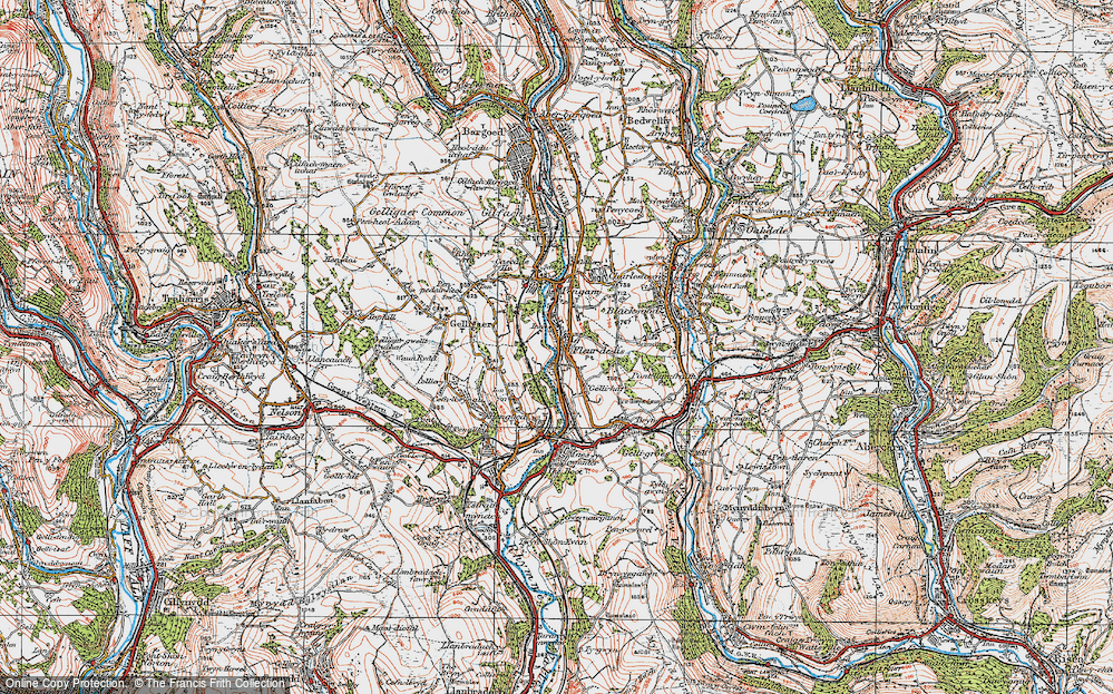 Old Map of Tir-y-berth, 1919 in 1919