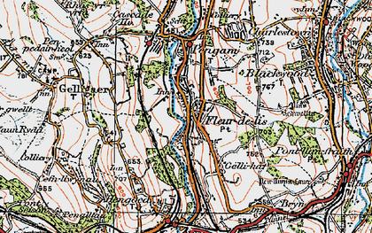 Old map of Tir-y-berth in 1919