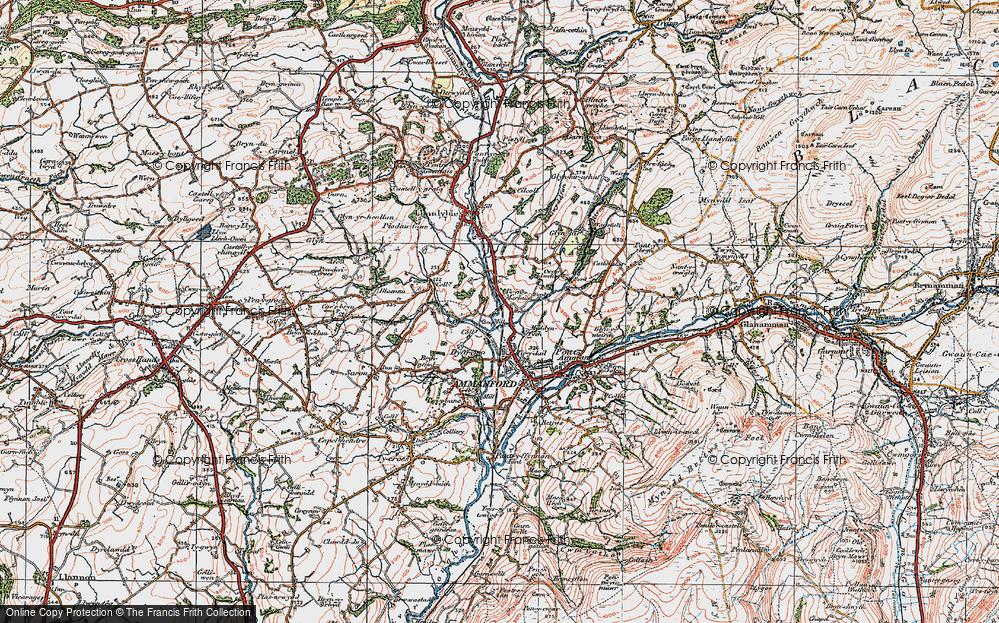 Old Map of Tir-y-dail, 1923 in 1923