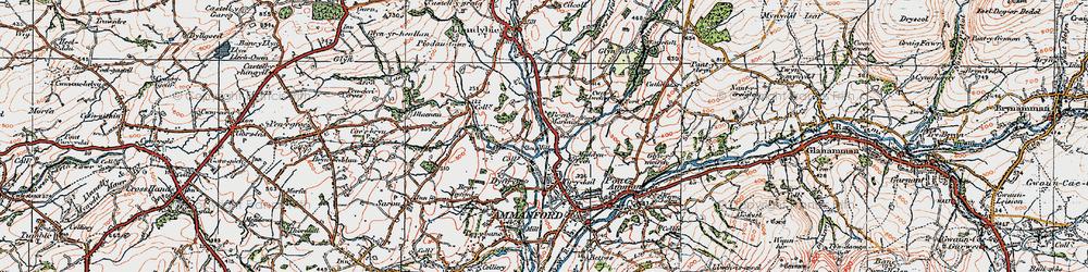 Old map of Tir-y-dail in 1923