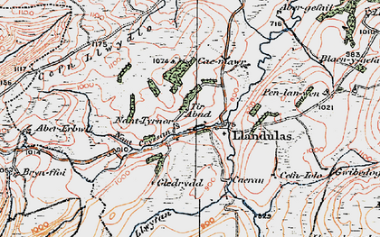 Old map of Abererbwll in 1923