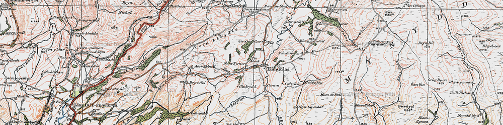 Old map of Tirabad in 1923