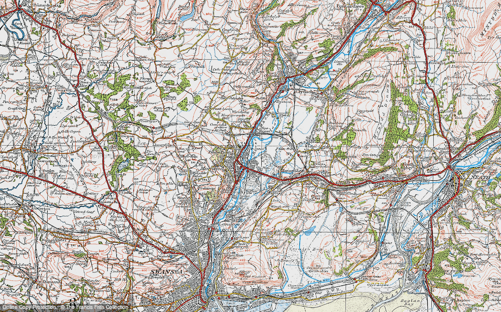 Old Map of Tircanol, 1923 in 1923