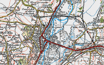 Old map of Tircanol in 1923