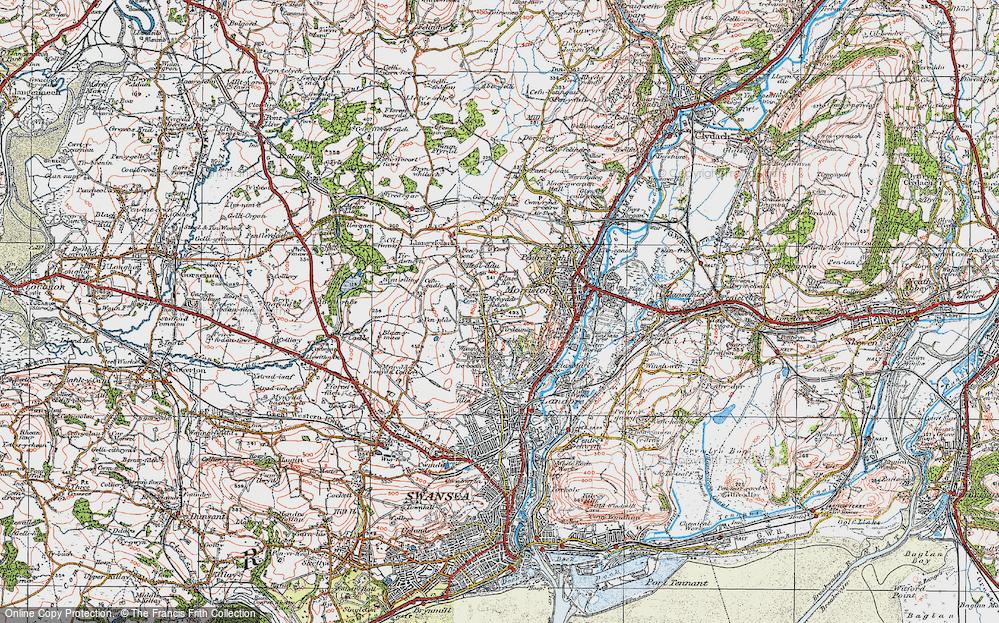Old Map of Tirdeunaw, 1923 in 1923