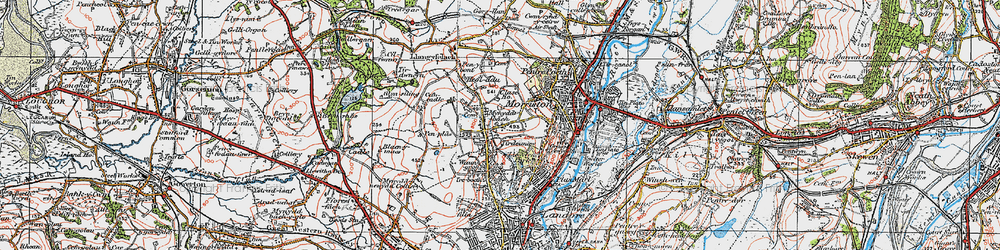 Old map of Tirdeunaw in 1923
