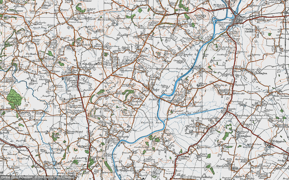 Old Map of Tirley, 1919 in 1919