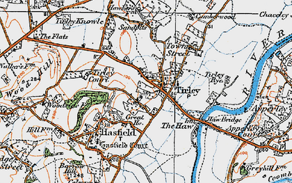 Old map of Tirley in 1919