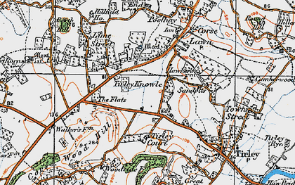 Old map of Tirley Knowle in 1919
