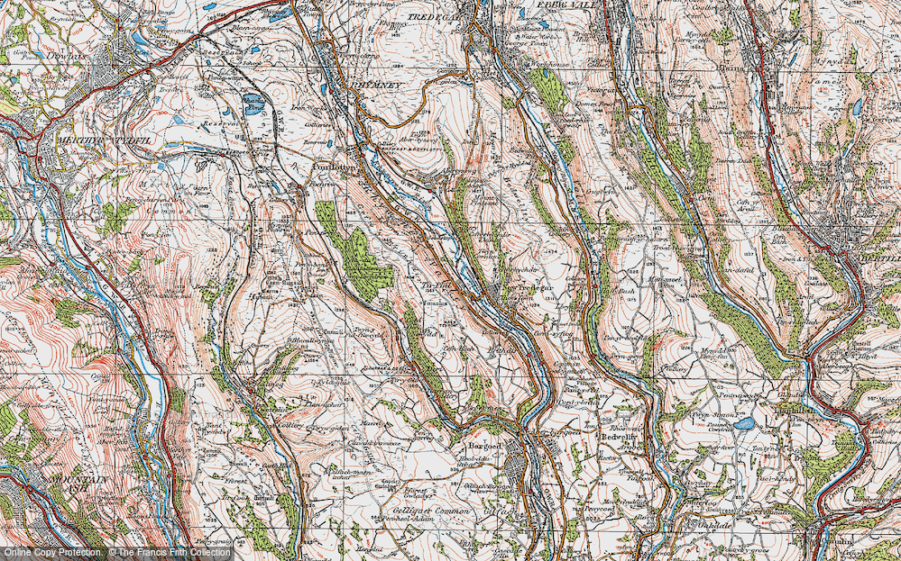 Old Map of Tirphil, 1919 in 1919
