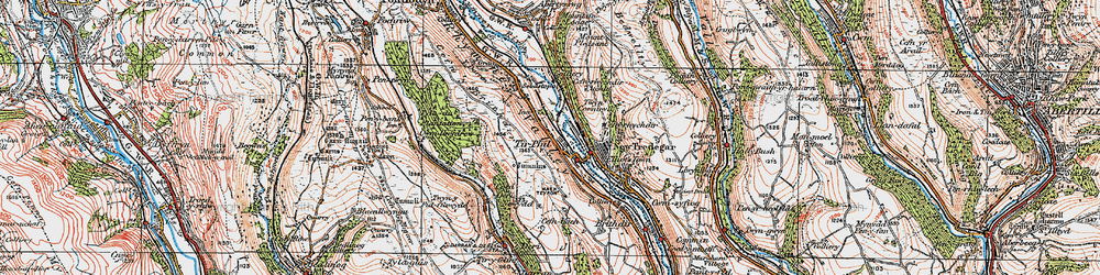 Old map of Tirphil in 1919