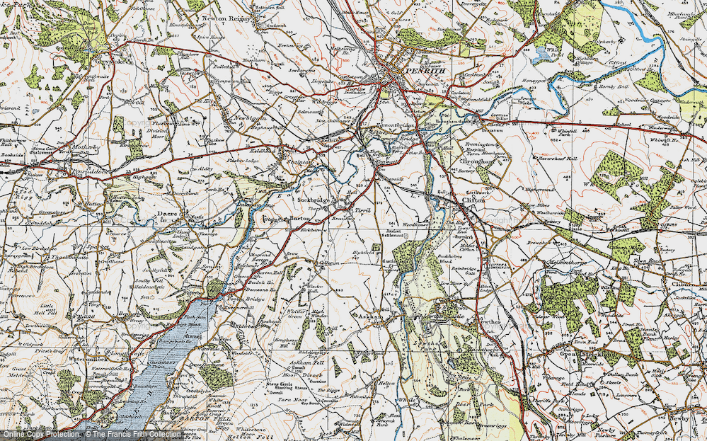 Old Map of Tirril, 1925 in 1925
