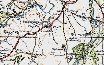 Old map of Tirril in 1925
