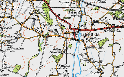 Old map of Titchfield in 1919