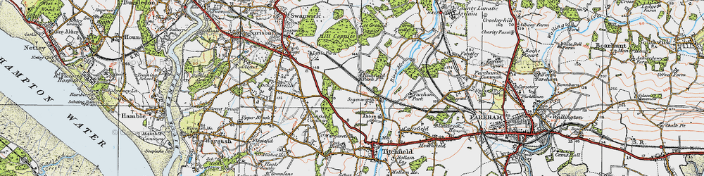 Old map of Titchfield Park in 1919