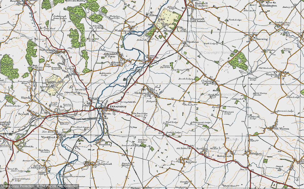 Old Map of Titchmarsh, 1920 in 1920