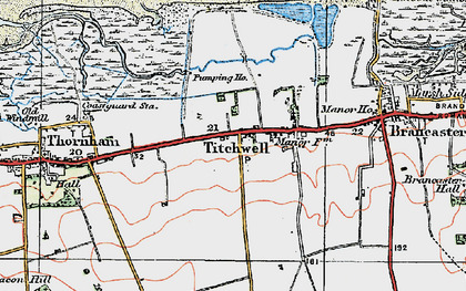 Old map of Titchwell in 1921