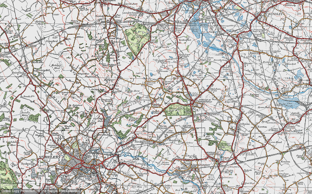 Old Map of Tithe Barn Hillock, 1924 in 1924