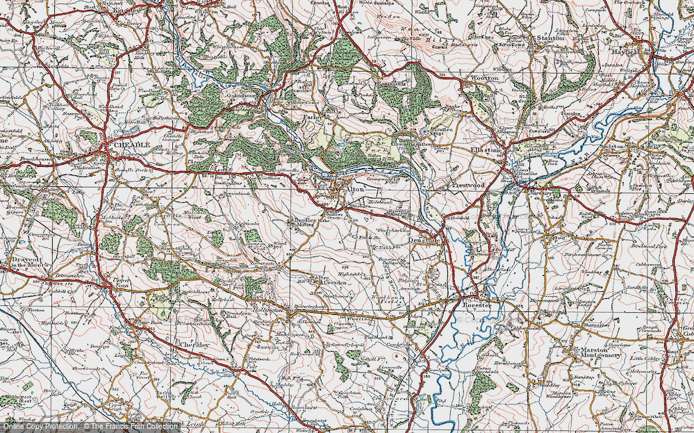 Old Map of Tithebarn, 1921 in 1921