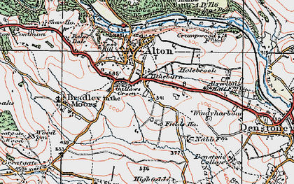 Old map of Tithebarn in 1921