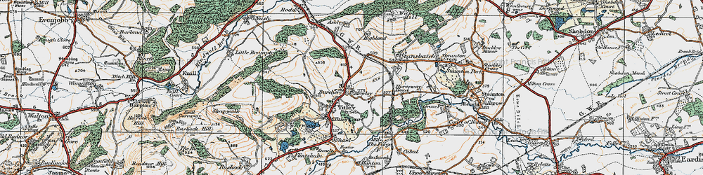 Old map of Titley in 1920
