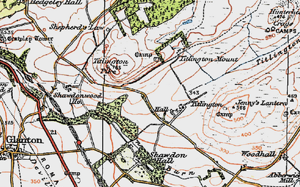 Old map of Titlington Burn in 1926